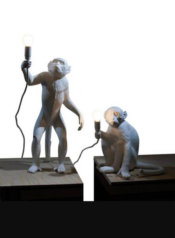 Monkey Lamp Grey