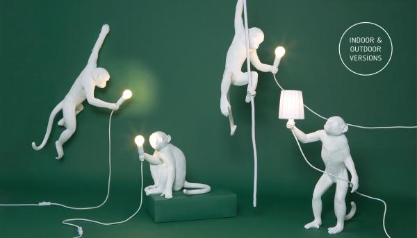 Monkey Lamp White